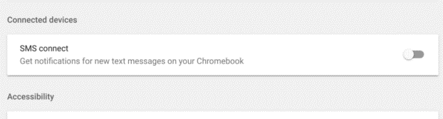 text message directly on chromebook