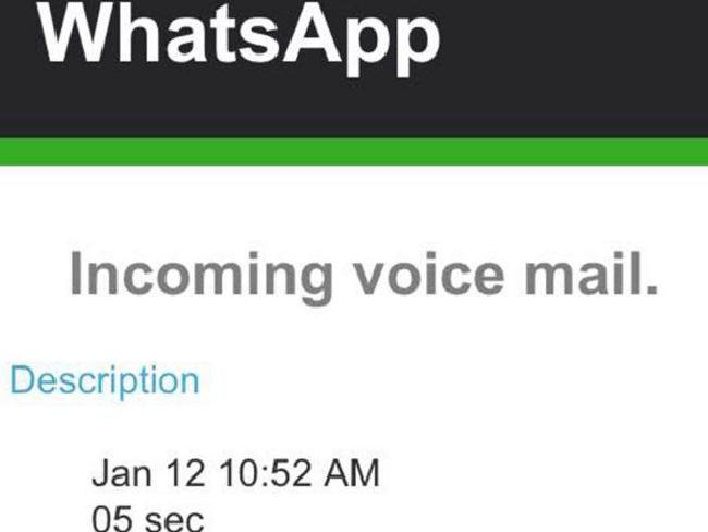 voice message over email whatsapp virus