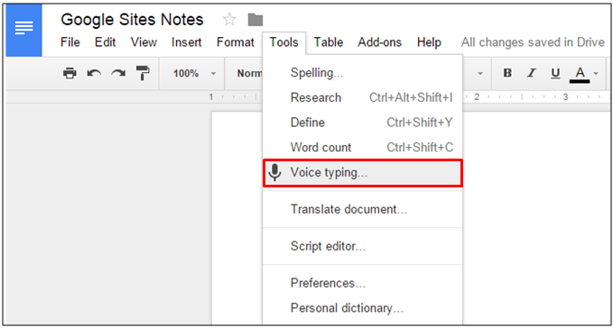 voice-typing-for-google-drive