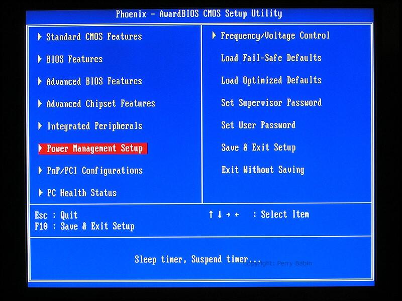 wake on lan BIOS settings