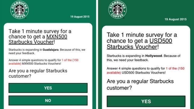whatsapp fake surveys