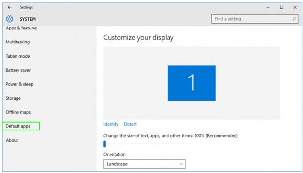 windows 10 default apps