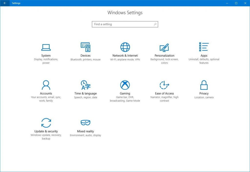 windows 10 settings for edge