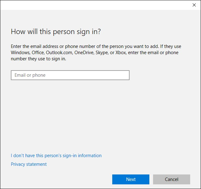 windows 10 signin