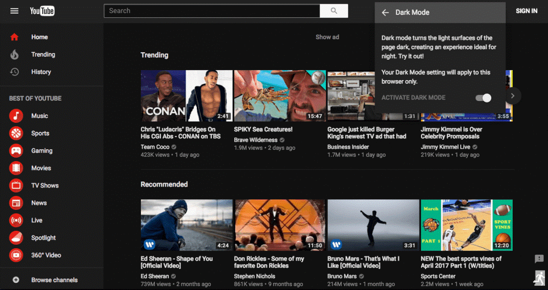 youtube-settings-for-dark-mode