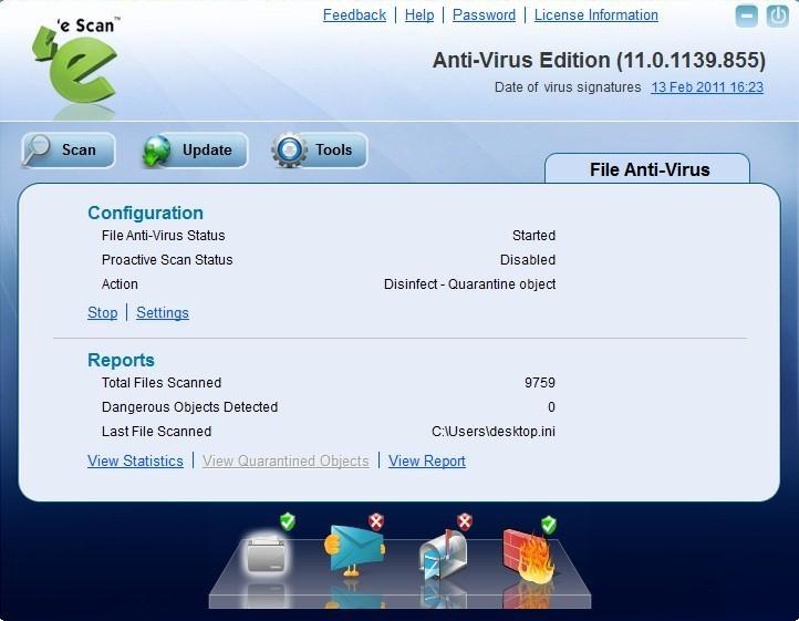Escan Antivirus for windows 10 PC
