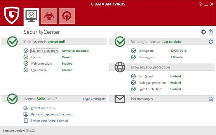 G Data Antivirus - antimalware for windows 10