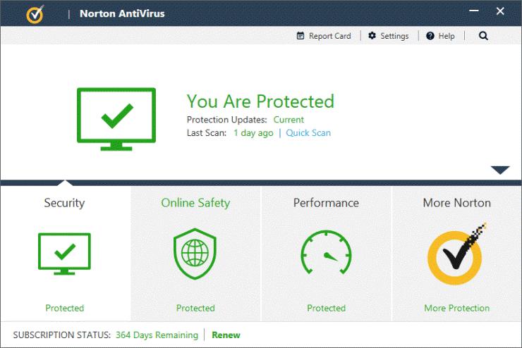 Norton Antivirus Basic antimalwar software