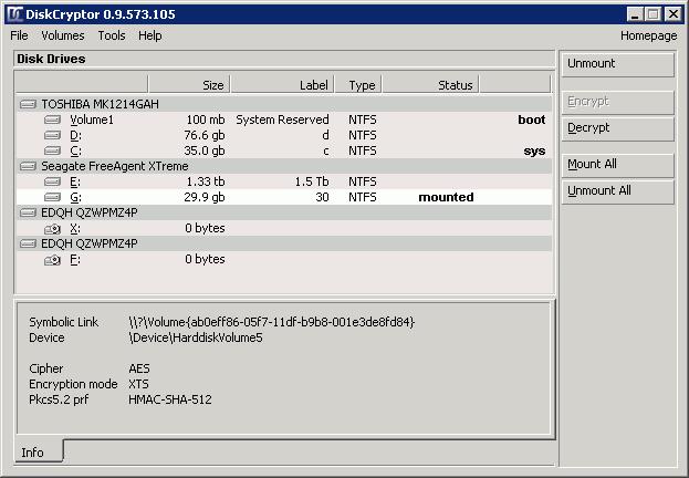 DiskCryptor- encryption software