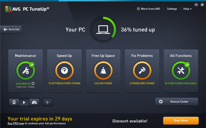 avg pc tuneup for best pc optimizer