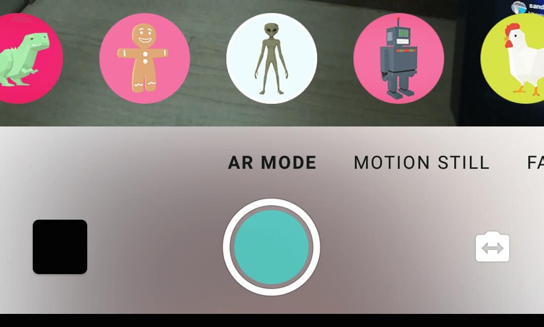 AR mode stickers