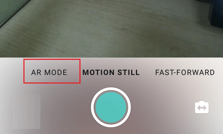 AR mode