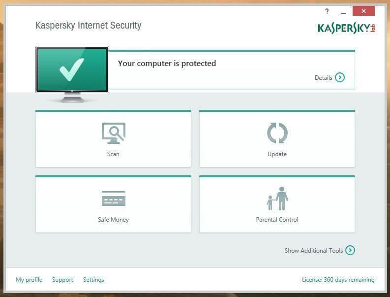 Kaspersky Internet Security- malware remover software