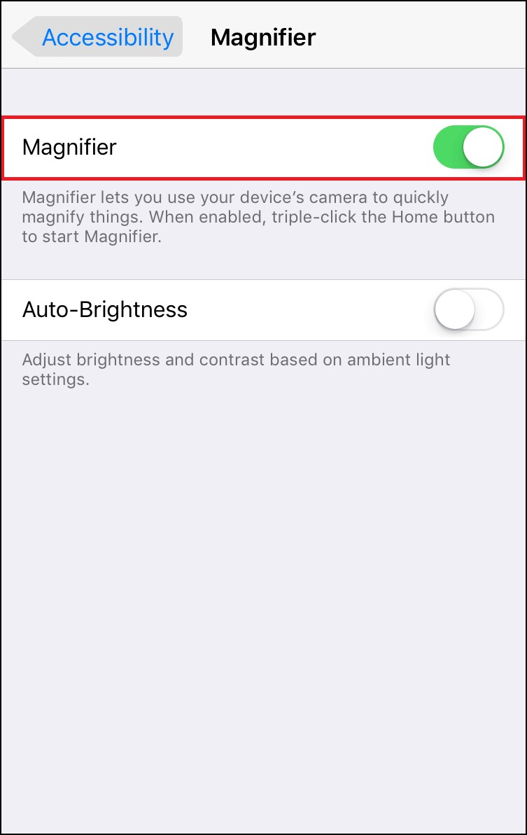 Turn on magnifier iPhone