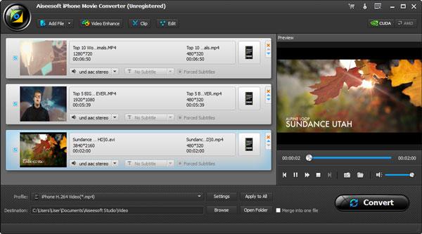 aiseesoft iphone video converter