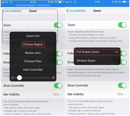 choose full screen iPhone