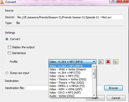 convert video format