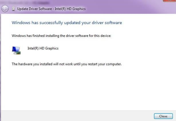 driver software updated