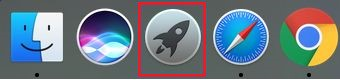 launchpad icon on the dock