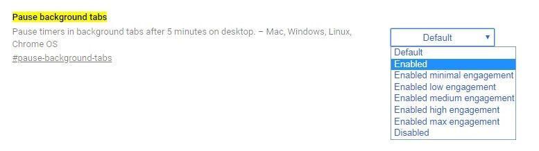 pause background tab google chrome