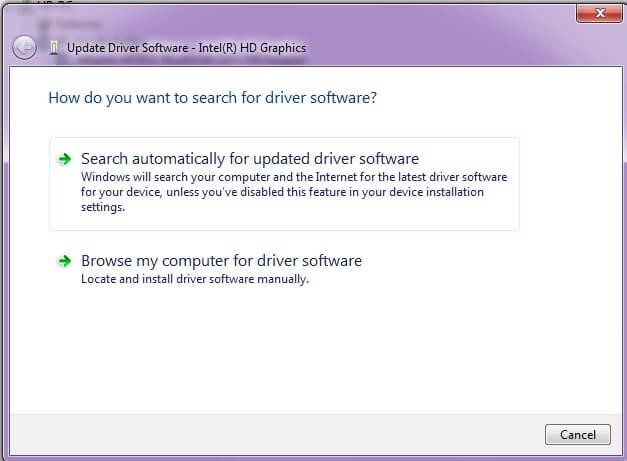 search for driver updater