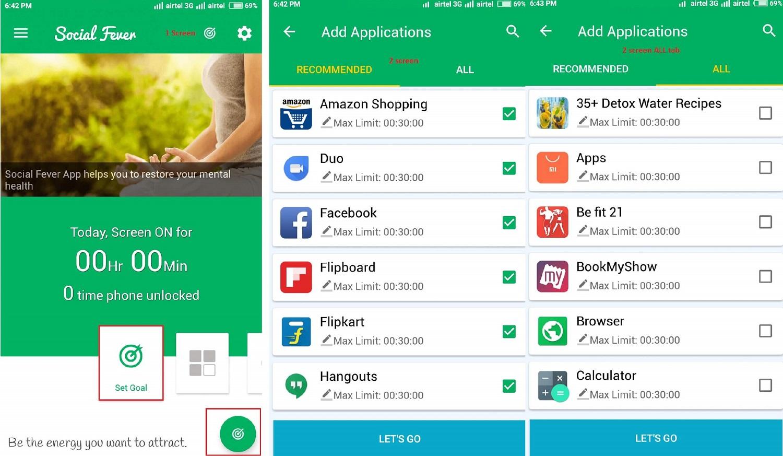 set-goal-social-fever android app