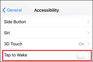 tap to wake on iphone x