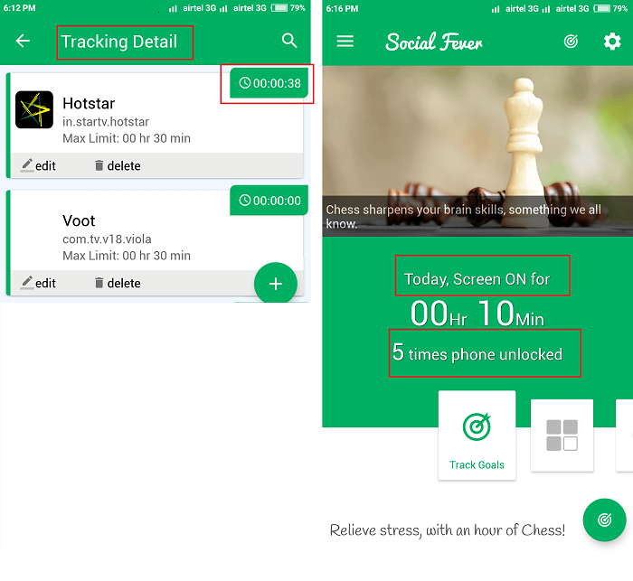 tracking details on social feaver