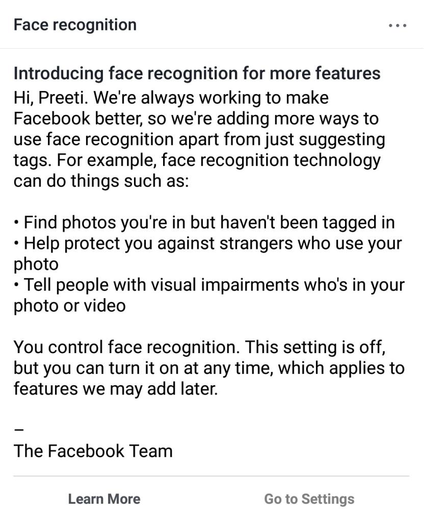 Facebook Face Recognition intro