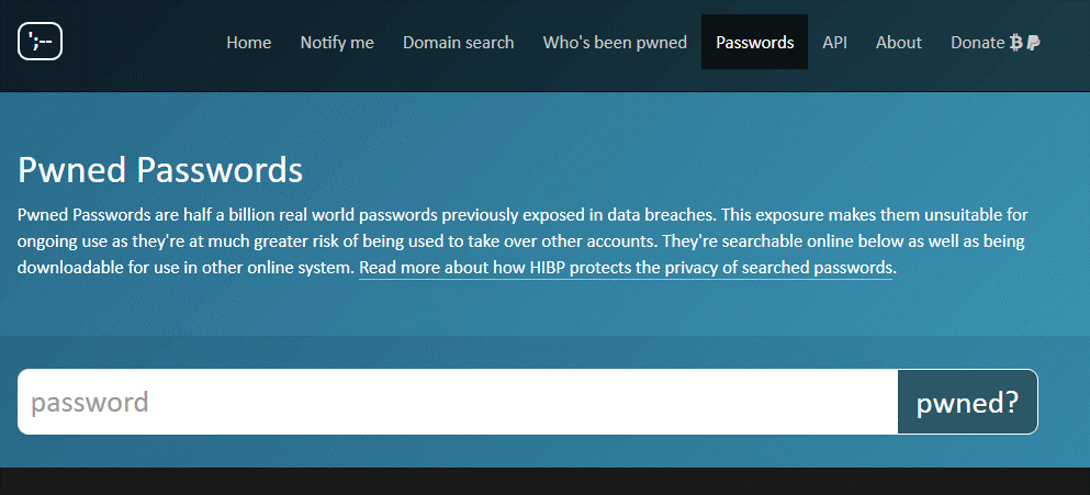 Get Help from Have I Been Pwned 2