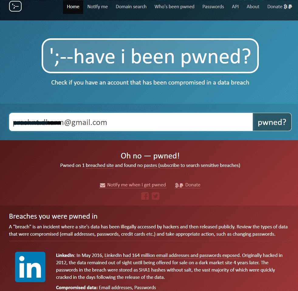 Get Help from Have I Been Pwned