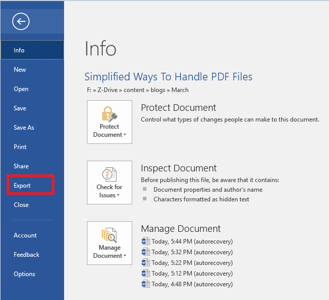 How to Convert Word File To PDF 3