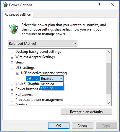 PO settings