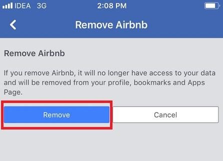 Removal of Third-party Apps from Facebook App on your iPhone 11