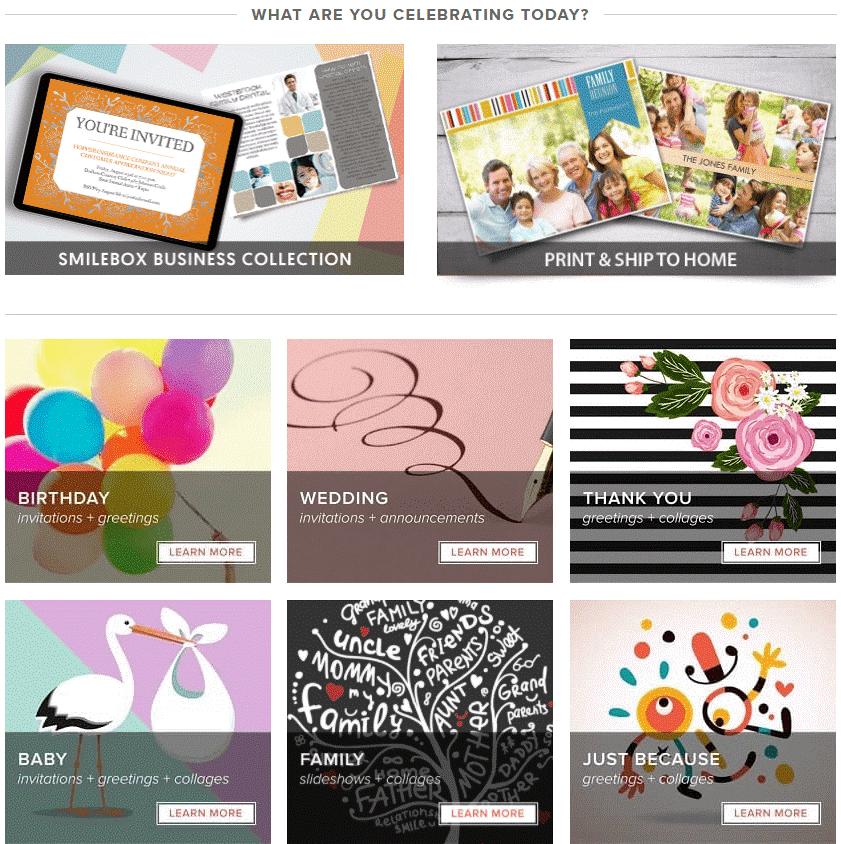 Smilebox- e-card maker websites