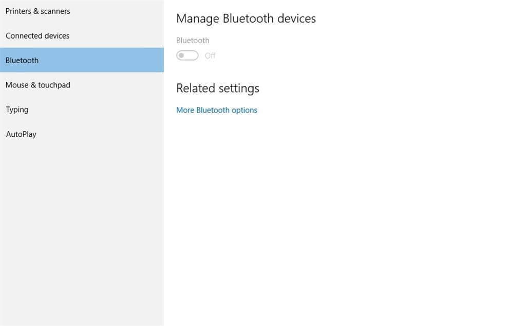 Wi-Fi Bluetooth and other settings