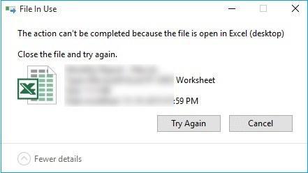 file can't delete