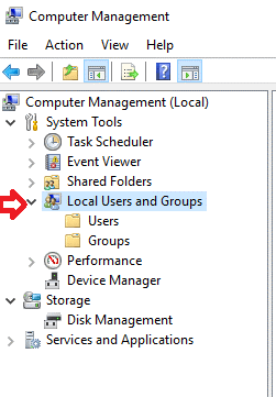 local user and group policy