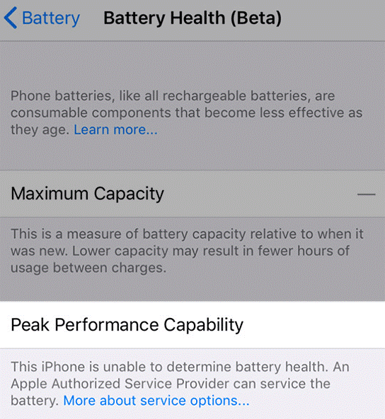 maximum capacity --