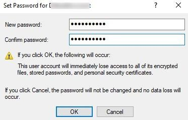 new password without know current password