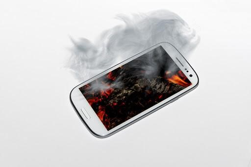 overheating of smartphone