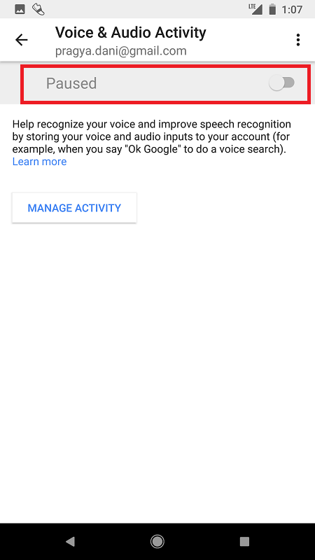 pause your google voice