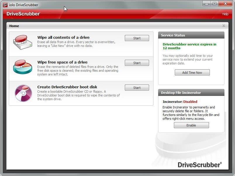 DriveScrubber- data shredder