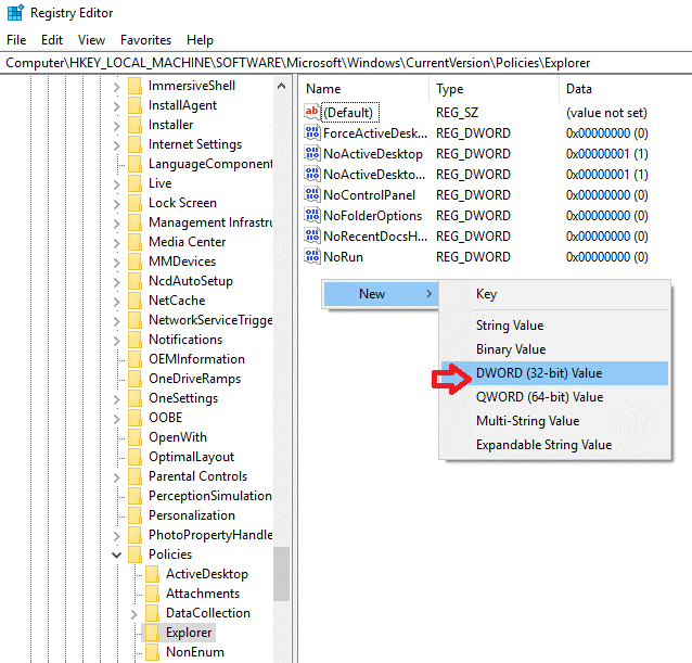 Hide the Drive Using Registry Editor4