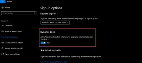 How to Lock Windows 10 using Dynamic Lock