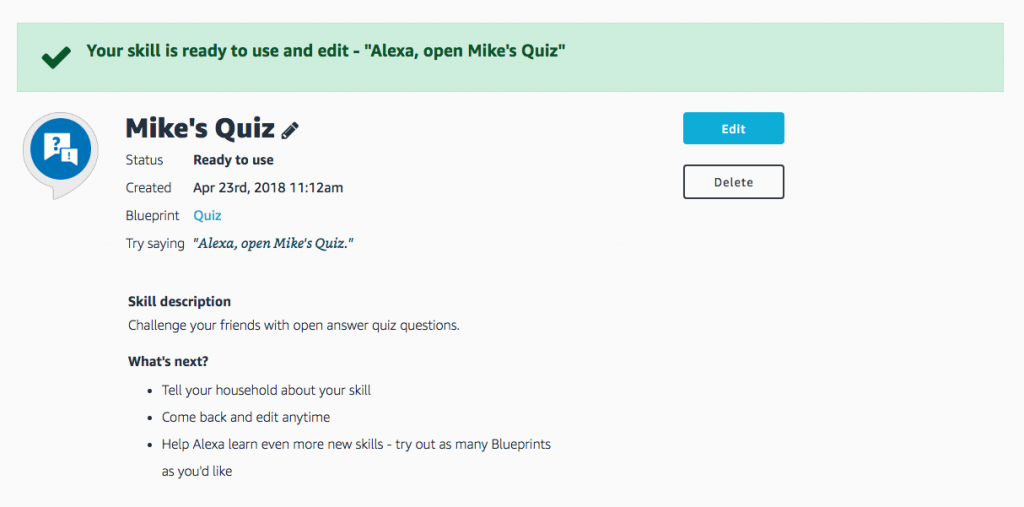 Steps to Create Alexa Skills of Your Own-10