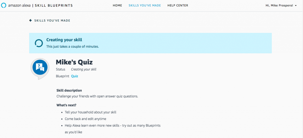 Steps to Create Alexa Skills of Your Own-9