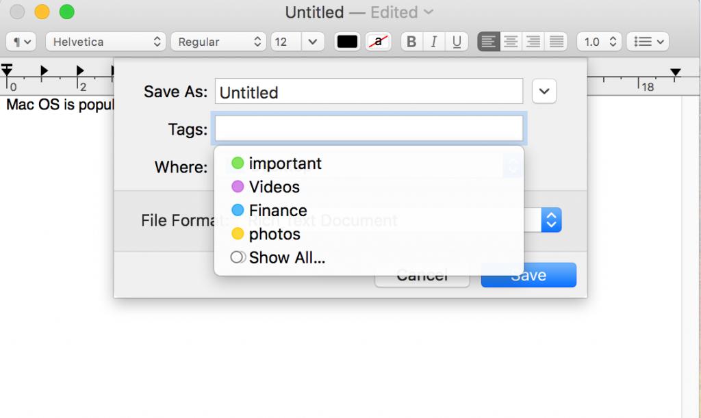 Tagging a file
