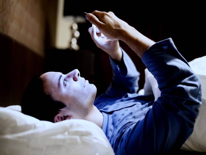 kick your phone out of your bed