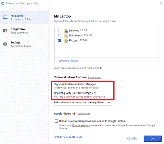 manage your google photos settings